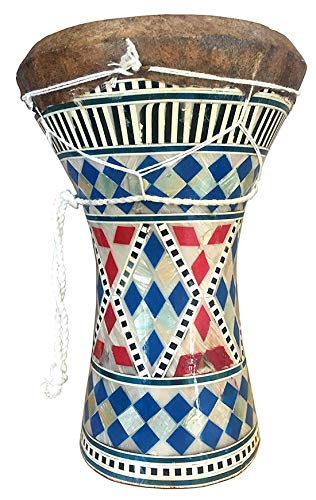 "Makan African Style 8"" Mosaic Mother Of Pearl Darbuka Drum/Djembes/Djembe Musical Percussion Instrument With Carry Bag"