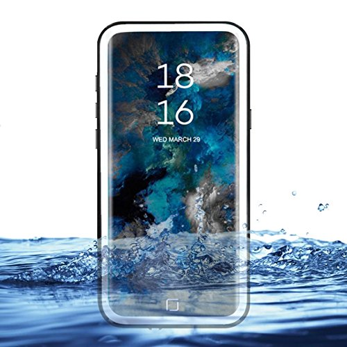 eazewell Galaxy S9+ Wasserdichte Schutzhülle, Ultra Slim 100% Unterwasser stoßfest Schneedicht Schutzhülle Transparent Rückseite Haut Rugged Box für Samsung Galaxy S9+ Plus sm-g965, Weiß Touchable Crystal Case