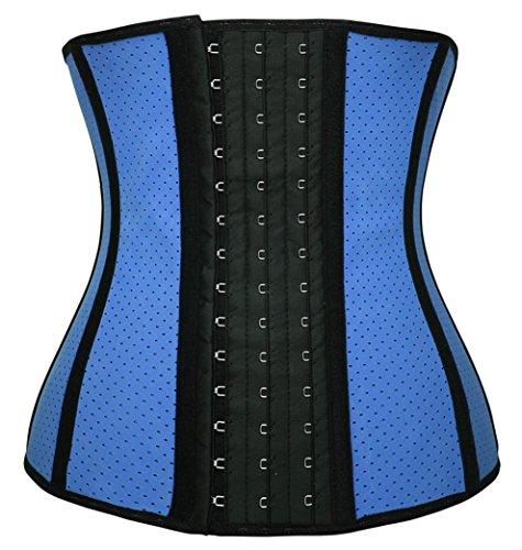 Dilanni da donna traspirante elastico in vita Trainer Cincher XS a 3X L lattice Shapewear (Latex Cintola)