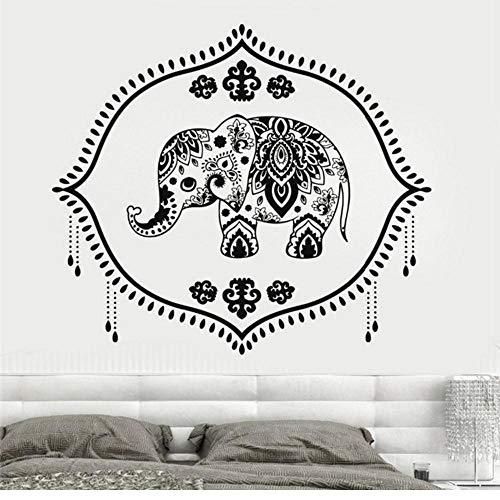 Wandsticker Vinyl Wandtattoo Indien Baby Elefant Kindergarten Hinduismus Hindu Aufkleber Mädchen Schlafzimmer Wandaufkleber Home Design 56 Cm X 63 Cm