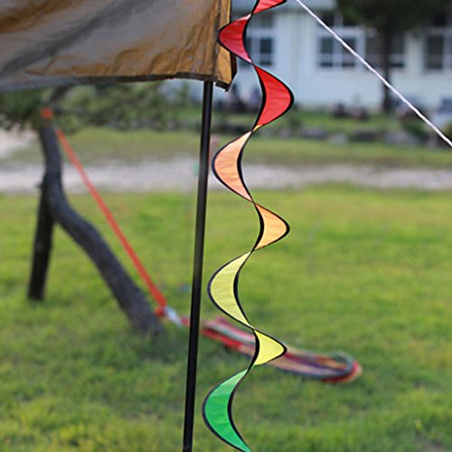 51pa0aw9n0L. SS500  - Nylon Spiral Rainbow Wind Spinner Tent Garden Decoration Colorful