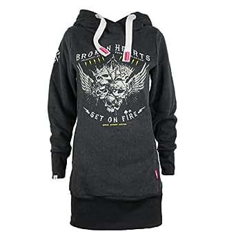 c0633f5c6f83 Yakuza Premium Damen Long Sweatshirt 2346 anthra