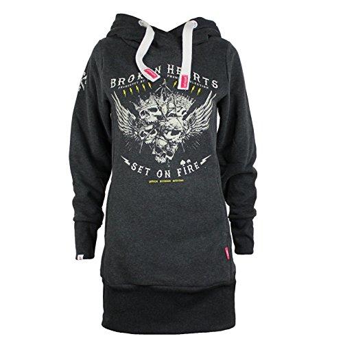 Yakuza Premium Damen Long Sweatshirt 2346 anthra