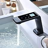 Luxus Küche Schwarz Wasserhahn Intelligente Touch-Steuerung LED Temperaturregler Infrarot Doppelanschluss Durchlauferhitzer