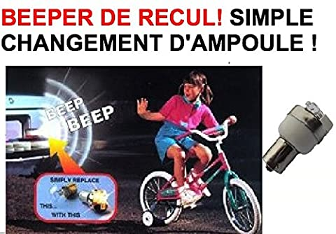 GENIAL AMPOULE DE RECUL 12V AVEC BEEPER ! MONTAGE 1MN SIMPLE CHANGEMENT D'AMPOULE ! INDISPENSABLE SONNE QUAND VOUS RECULEZ ! 4X4 CAMION CAMPING-CAR VOITURE ! 4X4 RAID TRIAL QUAD CROSS VHC RALLYE AUTO MOTO CAMION CAMPING-CAR SIRENE KLAXON OUTILLAGE ACCESSOIRES SCOOTER