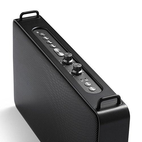 GGMM E5 Enceinte Bluetooth Portable sans Fil Haut-Parleurs Son Stéréo Puissantes 20W Réglable Basses+Treble, Port De Recharge USB, Noir