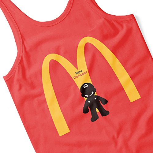 Mario Is The Founder Of McDonalds Men's Vest Red