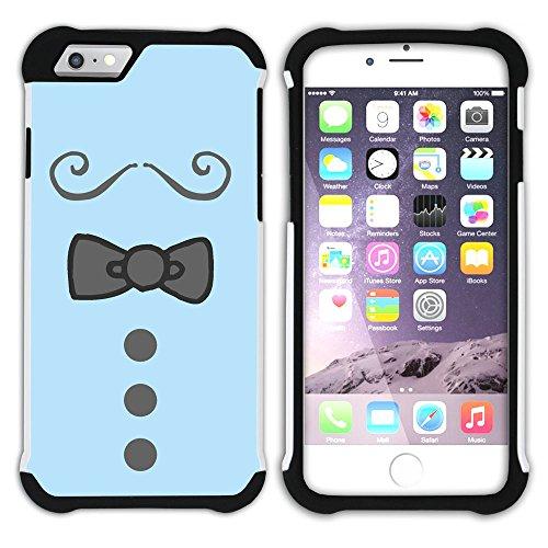 Graphic4You Krawatte Kleidung Männer Mode Design Hart + Weiche Kratzfeste Hülle Case Schale Tasche Schutzhülle für Apple iPhone 6 Plus / 6S Plus Design #2