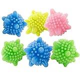 Gosear 6PCS Trockner Bälle Wäsche Bälle Waschball Trocknerball Zufällige Farbe