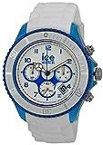 Ice-Watch Herren-Armbanduhr XL Ice-Chrono Party - Curaçao - Big Big Chronograph Quarz Silikon CH.WBE.BB.S.13