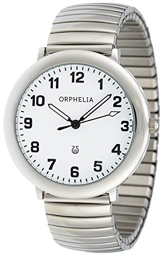 Orphelia - OR53770718 - Montre Mixte - Quartz Analogique - Aiguilles lumineuses - Bracelet Acier inoxydable Argent