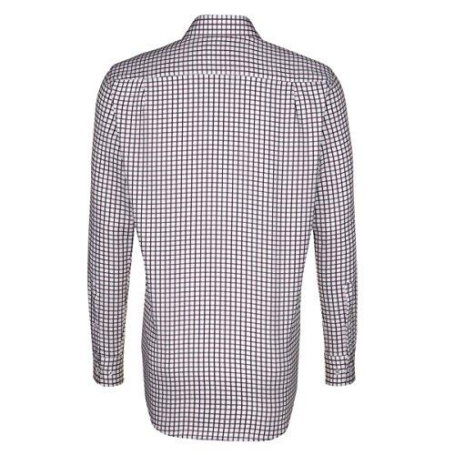 Seidensticker -  Camicia classiche  - A quadri - Classico  - Maniche lunghe  - Uomo rot (0044)