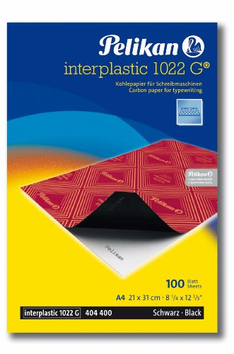 Pelikan 404400 Kohlepapier interplastic 1022G, schwarz, A4, 100 Blatt
