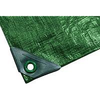 Noor, Telone da esterni in polipropilene e polietilene, colore: Verde, 3 x 7 m