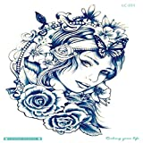 Pegatinas de tatuaje desechables impermeables para el medio ambiente tatuaje color grande flor brazo tatuaje pegatinas 3Pcs-10 210 * 150 mm