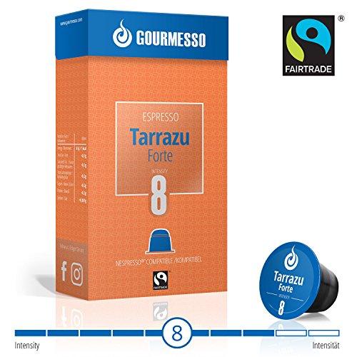 Gourmesso Tarrazu Forte (intensité 8) - 10 Capsules de café compatibles Nespresso® - Café équitable
