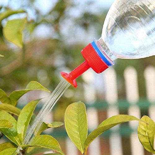 LNIMIKIY 5 Stück Flaschenverschlüsse Tragbare Mini-Bewässerungsflaschen Deckel Garten-Pflanze Wasserflasche Tropfsprinkle Düse Automatische Bewässerung