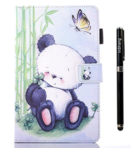 inShang T377 Cover für Samsung Galaxy TAB E 8.0 Inch T 377 Hülle mit PU Leder Skins Etui Schutzhülle Ständer Smart Case Cover, Logo hochwertigen Stylus Eingabestift Stift