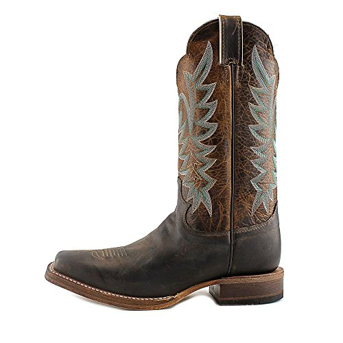 Justin Boots BRL610 Cuir Santiags Chocolate America-Tan Damiana