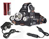 Boruit Rechargeable LED Head Torch Light with 4...