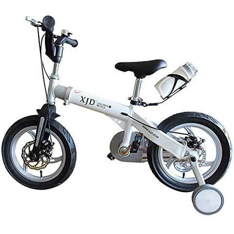 Kinder-Fahrrad, Fahrrad männlich 3-6 Jahre alt Teleskop Jungen und Mädchen 2-4 Jahre alt Berg Baby Wagen Baby Bike ( Farbe : Weiß , größe : 12 inch )