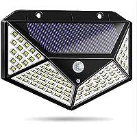 HOOK i Solar Lights for Garden 100 LED Motion Sensor Security Lamp for Home and Garden, Outdoors   Bright Solar Wireless…