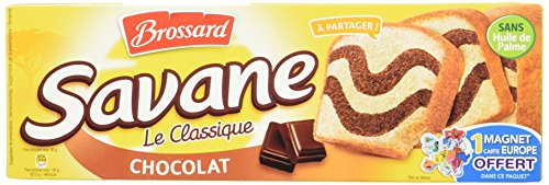 Brossard Savane Le Classique Gâteau Marbré au Chocolat L'Étui 300 g - Lot de 6