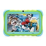 Tablet Da 7 Pollici Android 7.1 per Bambini, Schermo IPS HD, 1GB/16GB, PC Babypad Edition con Wifi e Fotocamera e Giochi, Google Play Store, Bluetooth Supportato, Custodia per Bambini, Certificato GMS, iRULU Y57 -Verde