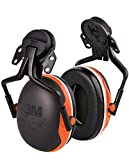3MTM PeltorTM Protection auditive à coquilles X4 à fixer sur le casque, orange