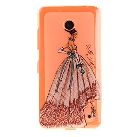 "Nokia Lumia 630 Hülle, SsHhUu Kratzfeste Clear Durchsichtig Ultra Slim TPU Schutzhülle Bumper Tasche Cover Case für Nokia Lumia 630 / N630 (4.5"") - Elegantes Charmantes Tanzenmädchen"