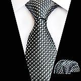 WOXHY Cravatte da Uomo Verdi Cravatte Cravatte da Uomo Hanky   Set Cravatte da Uomo d'Affari da Uomo Cravatta da Uomo Hanky   Neck Tie