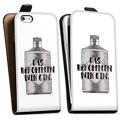 Apple iPhone X Silikon Hülle Case Schutzhülle Spruch Statement Das bekommen wir Gin Downflip Tasche schwarz