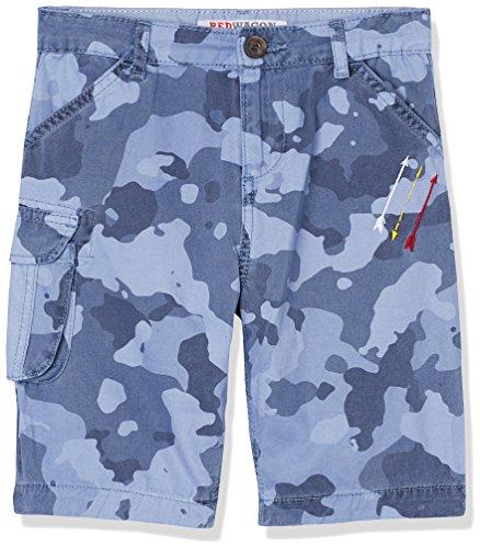 RED WAGON Jungen Shorts mit Camouflage Print, Blau (Navy), 128 (Herstellergröße: 8 Jahre) (Kinder Weste Camouflage)
