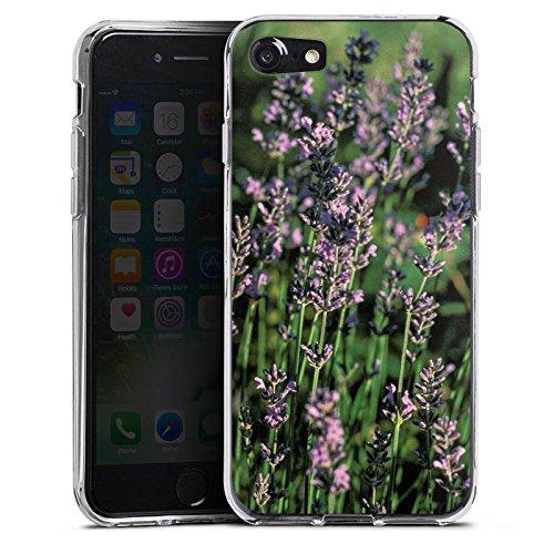Apple iPhone X Silikon Hülle Case Schutzhülle Lavendel Blumen Natur Silikon Case transparent