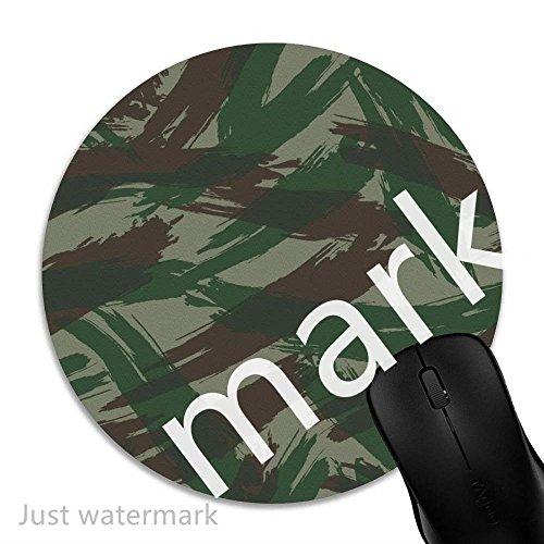 Maus-Pad Grüne braune Malerei,7 inch rund Mouse-Pad mit rutschfester Unterlage Standard 1V528