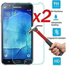 Protector de pantalla de vidrio templado Film para Samsung Galaxy J 2 3 5 7-2PCS de un paquete