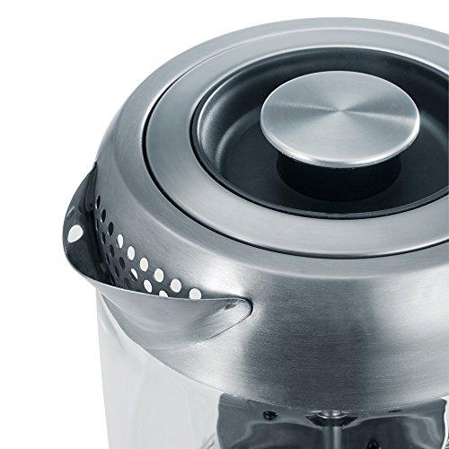 Severin WK 3471 Glas-Tee Wasserkocher, Glas edelstahl gebürstet - 5