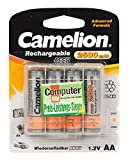 Camelion 17025406 Akku (NiMH, R6, Mignon, AA, 2500 mAh, inkl. Aufbewahrungsbox geeignet für 4 x Akkus) 4er-Pack