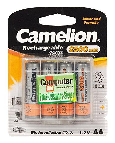 Camelion 17025406 Batterie rechargeable 4 accus R06 / AA / 2500 mAh sous blister