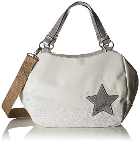 Mustang Damen Kansas Candy Handbag Lhz Henkeltasche, Weiß (Offwhite), 16x25x40 cm (Schuh Candy Schuhe)