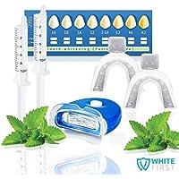 Kit blanchiment dentaire White First ® - Kit blanchissement dentaire avec 20ml de gel blanchiment. Les produits dentaire dans nos kits blanchiment des dents sont idéal pour les personnes souffrant de dents sensibles.