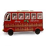 Hölzerner Weihnachtsadvent-Kalender Sankt-Bus Belichtet Mit LED Beleuchtet Aufbewahrungsbehälter Mit 24 Fächern Für Weihnachten Verziert, Count-Down-Pralinenschachtel Kindergeschenkkasten Verzierung