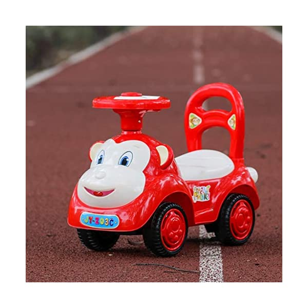 Twist car Swing car Children With Music Baby Scooter Walker Four-wheeler Yo Car 1-3 Years Old Baby Toy Car FANJIANI (color : Red) Twist car ▶Tip: The delivery time of the product is 8-15 days, If you have any questions, please feel free to contact us ▶Environmental PP material, non-toxic, no odor, corrosion resistance, high temperature resistance, anti-drop, shockproof, baby play more assured ▶ Let the baby stimulate the left and right brains by grasping and promote the development of the cerebellum, By constantly adjusting the steering wheel, you can exercise your baby's sense of direction and flexibility, and effectively develop your baby's potential 4
