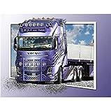Peinture de diamant complet rond point de croix dessin animé camion 3D diamant broderie strass mosaïque décor de mur cadeau 40X50Cm