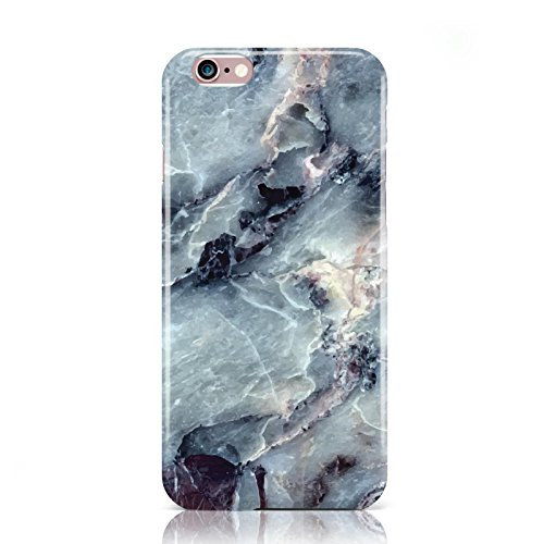 dyefor-faux-marble-blue-grey-hard-back-phone-case-cover-for-apple-iphone-6-6s