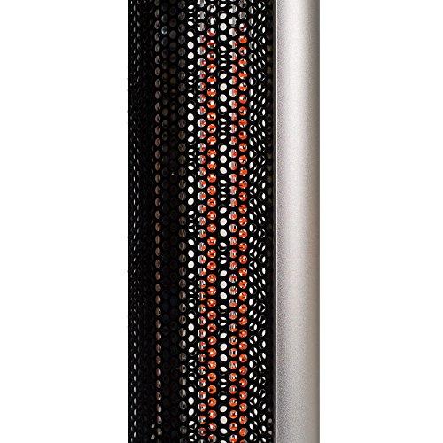 Stehtisch mit Infrarot-Heizstrahler – Tischplatte Glas – zweistufig regelbar – 800/1600 W – 80 cm Tischplatte und Edelstahl Fußreling – Terrassenstrahler mit Infrarotheizung, Stehtisch mit Infrarotheizung, inkl. Speditionsversand (bitte Telefon-Nr. in Bestellung angeben) - 4