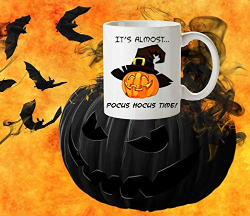(XIEXING Strong Stability Durable Halloween Kaffeebecher Coffee Kaffeebecher All Hallows eve Pocus Hocus Funny Kaffeebechers Gag Gifts Fall Decor First Coffee Humour Autumn Quotes Tea Cup Gift Ideas)