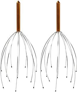 4x Kopfmassage-Gerät Kopfmassager Set goldfarben