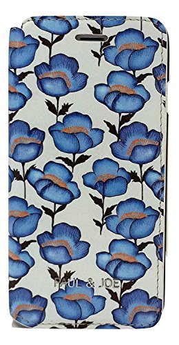 Paul & Joe pji655_ tflo Flowers Book Case per Apple iPhone 6/6S Plus blu