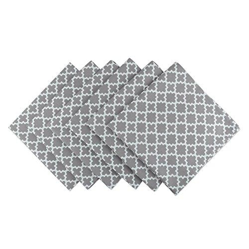 DII Gitter-Baumwoll-Tischläufer für Esszimmer, Foyer-Tisch, Frühlingspartys und den täglichen Gebrauch, 35,6 x 274 cm Napkin Set grau (Foyer-tisch-set)